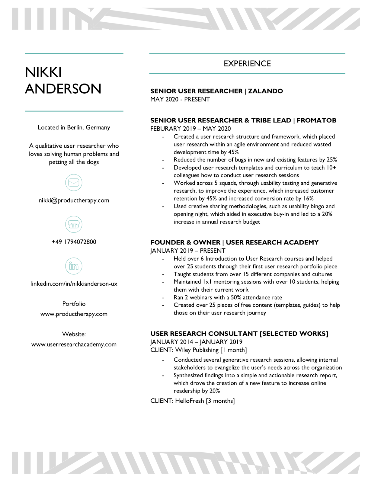 Ux researcher resume cheap article review ghostwriting service ca
